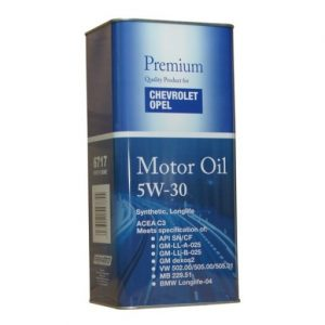 GM Chevrolet Opel Motor Oil 5W30 C3 5L